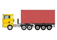 Camion avec le conteneur illustration de vecteur