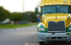 Camion avec le mouvement Photo stock