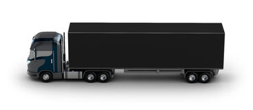 Camion avec le récipient sur le blanc Photos libres de droits