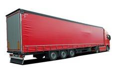 Camion avec semi la remorque photo libre de droits
