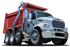 Camion à benne basculante de bande dessinée de vecteur Photos stock