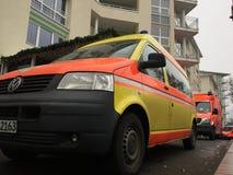Camion berlinois de corps de sapeurs-pompiers de Feuerwehr images stock