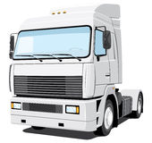 Camion bianco Fotografie Stock
