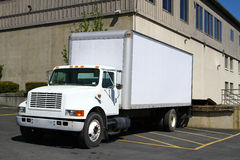 Camion bianco al bacino Immagine Stock Libera da Diritti