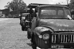 Camion in bianco e nero Fotografia Stock Libera da Diritti