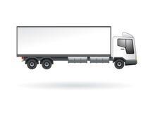 Camion in bianco isolato Fotografia Stock
