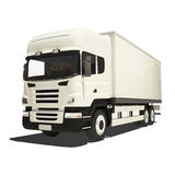 Camion bianco isolato Immagini Stock Libere da Diritti