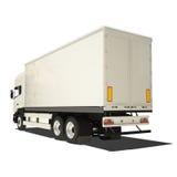 Camion bianco isolato Fotografie Stock