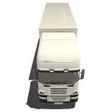 Camion bianco isolato Immagine Stock Libera da Diritti