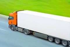 Camion in bianco rapido Immagini Stock Libere da Diritti