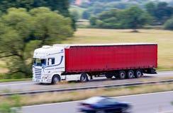 Camion bianco veloce Fotografia Stock Libera da Diritti
