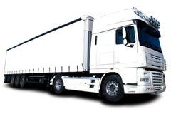 Camion blanc photo libre de droits