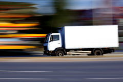 Camion blanc Photographie stock