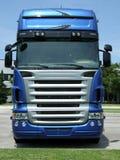 camion bleu de visage Photographie stock libre de droits