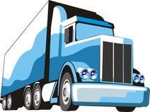 Camion blu Immagine Stock