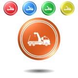 Camion, bouton, illustration 3D Photographie stock libre de droits