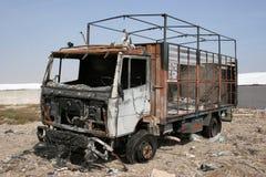 Camion brûlé Images libres de droits