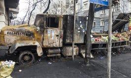 Camion bruciato Fotografie Stock