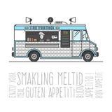 Camion chaud de mobile de nourriture de rue Photo stock