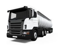Camion cisterna del combustibile Immagine Stock