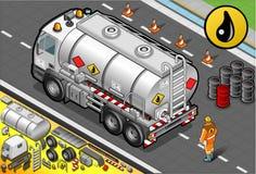 Camion cisterna liquido isometrico nella retrovisione illustrazione di stock