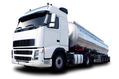 Camion-citerne aspirateur d'essence Photographie stock