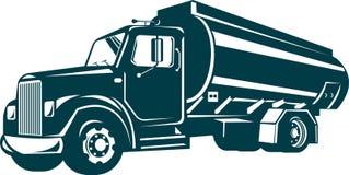 camion-citerne aspirateur d'essence et d'huile Images libres de droits