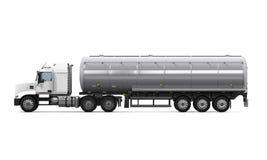Camion-citerne aspirateur de carburant Photo libre de droits