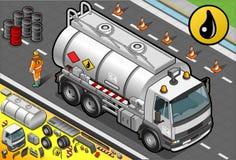Camion-citerne aspirateur liquide isométrique en Front View Image libre de droits