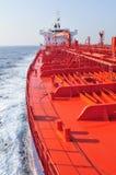 camion-citerne de bateau de pétrole brut de transporteur images libres de droits