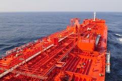 camion-citerne de bateau de pétrole brut de transporteur photo libre de droits