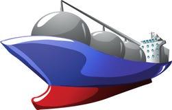 Camion-citerne de gaz de dessin animé Image stock