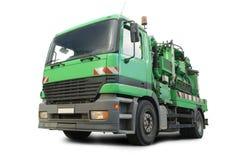 Camion-citerne de nettoyage d'égout Photos stock
