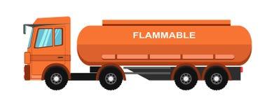 Camion-citerne orange