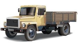 Camion classique de cargaison de vecteur Images stock