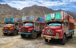 Camion coloré en Himalaya indien Photo libre de droits
