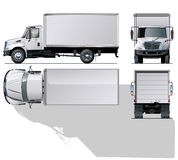 Camion commercial salut-détaillé de vecteur Photos libres de droits