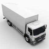 Camion commerciale carico/di consegna Immagine Stock