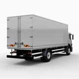 Camion commerciale carico/di consegna Immagine Stock Libera da Diritti