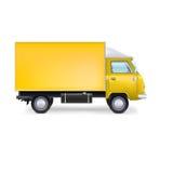 Camion commerciale del carico di consegna Immagini Stock Libere da Diritti