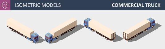 Camion commerciale Illustrazione isometrica di vettore in quattro dimensioni royalty illustrazione gratis
