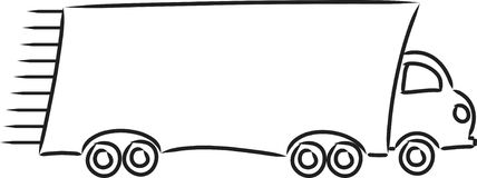Camion commovente illustrazione vettoriale