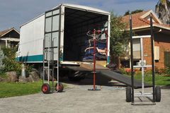 Camion commovente Immagini Stock Libere da Diritti