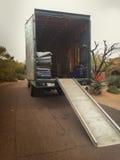 Camion commovente Immagine Stock
