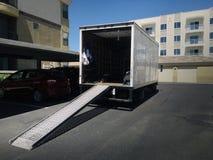Camion commovente Fotografie Stock Libere da Diritti