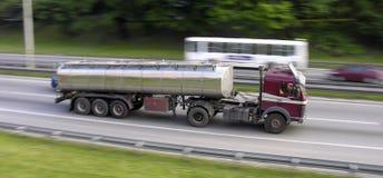 Camion commovente Fotografie Stock
