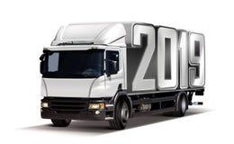 Camion con 2019 illustrazione vettoriale