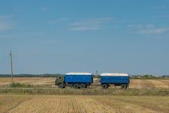 Camion con grano Fotografia Stock
