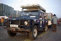 Camion con i pacchetti prima dell'inizio Fotografie Stock Libere da Diritti
