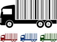 Camion con il codice a barre illustrazione di stock